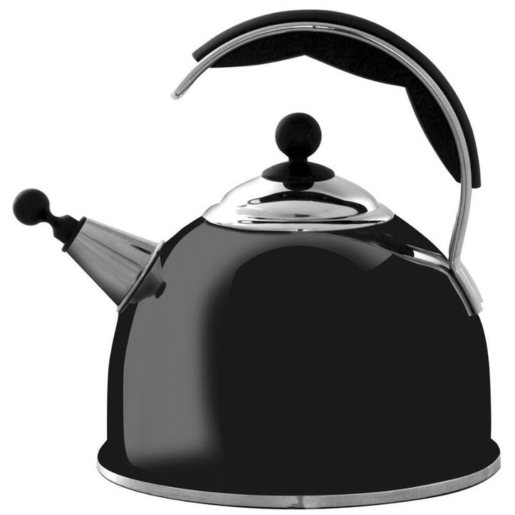 Stainless Steel Whistling Kettle, Black