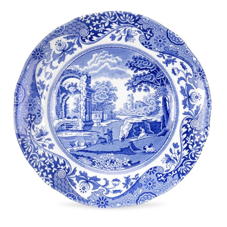 Blue Italian Tea Plates, Set of 4