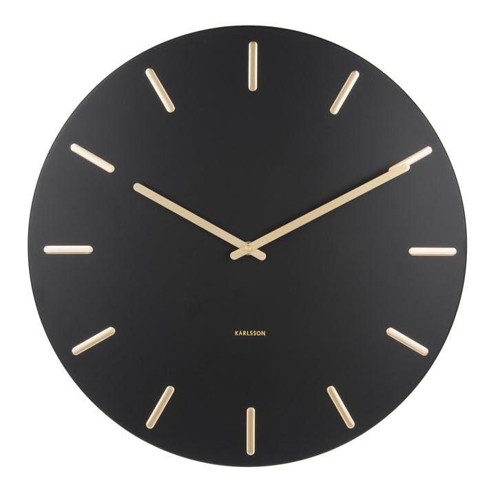 Charm Wall Clock, Black