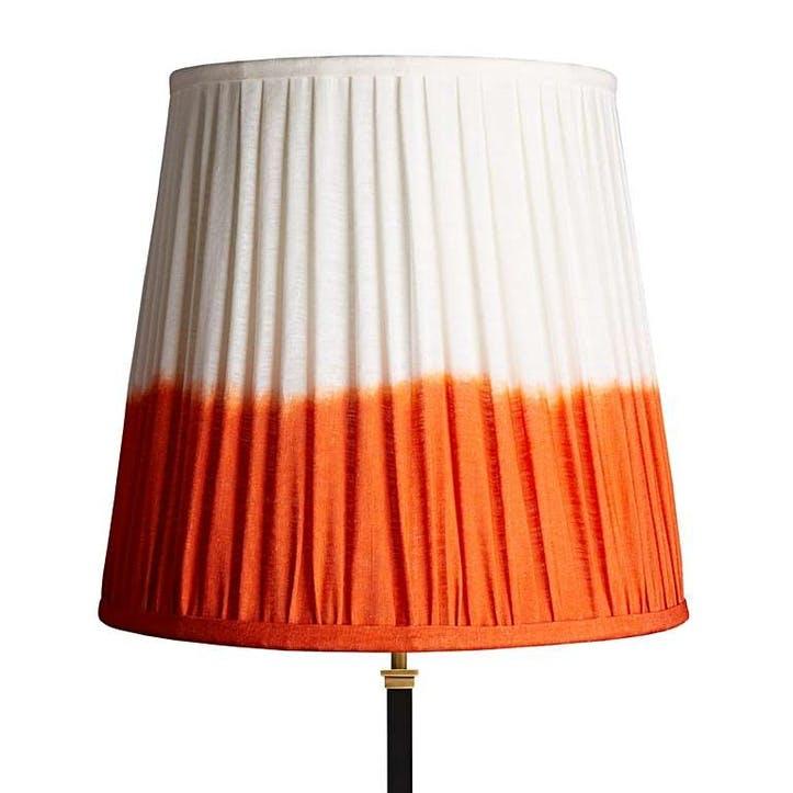 Tall Tapered Shade, 40cm, Orange Shibori Linen