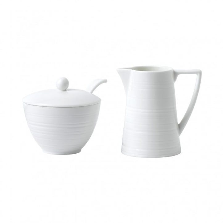 Strata Sugar Pot and Cream Jug
