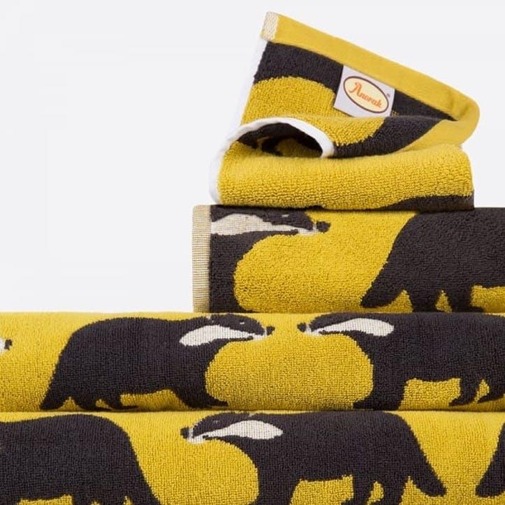 Kissing Badgers Bath Towel