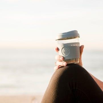 Coffee Cup, 12oz, Cool Grey