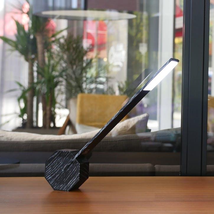 Octagon One Desk Lamp, 38cm, Black