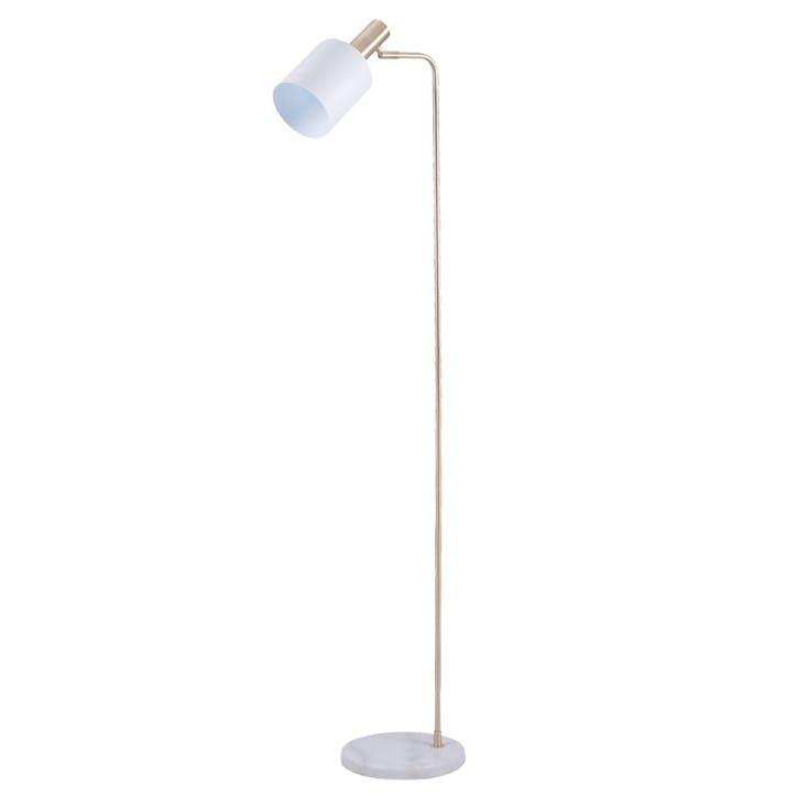 Addison Task Floor Lamp; Marble & Gold