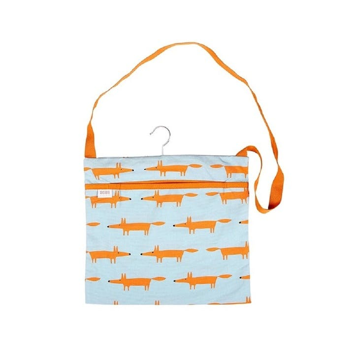 Mr Fox Wipe Clean Peg Bag, Blue