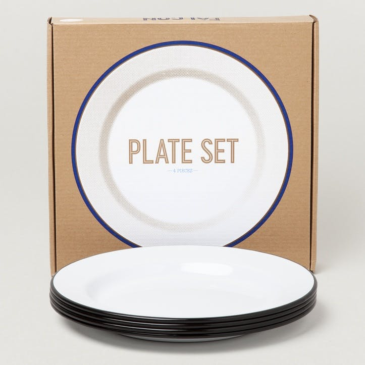 Plate Set, Coal Black
