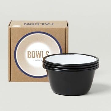 12cm Bowls, Coal Black