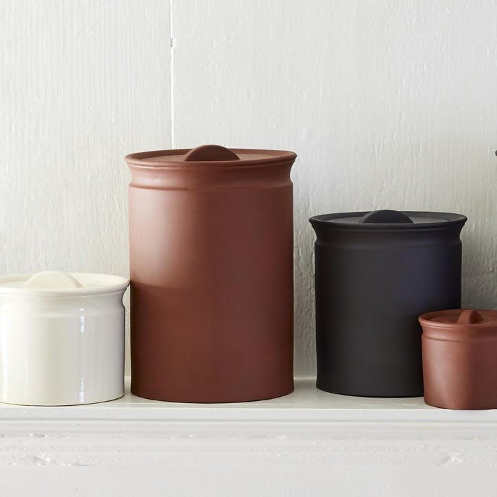 Larder Crock Storage Jar, Terracotta, Large