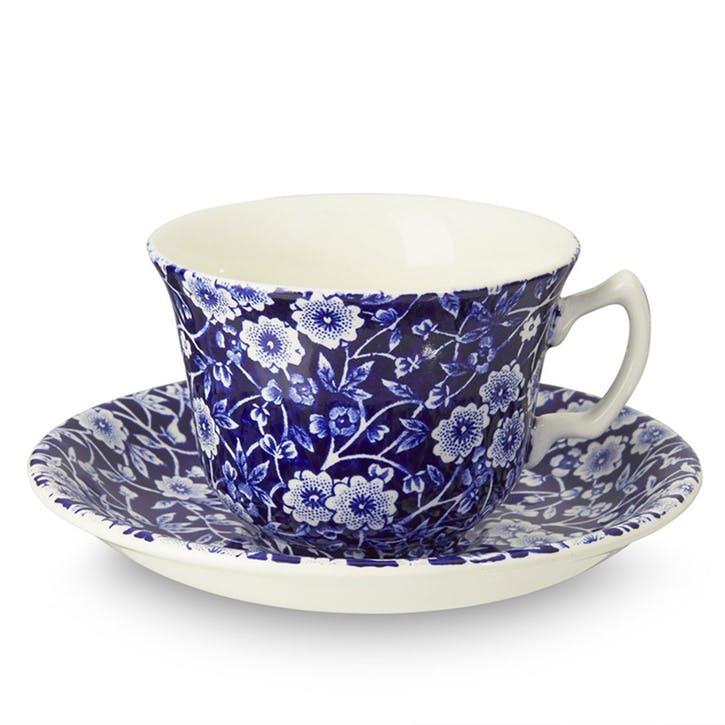 Calico Teacup, 187ml, Blue