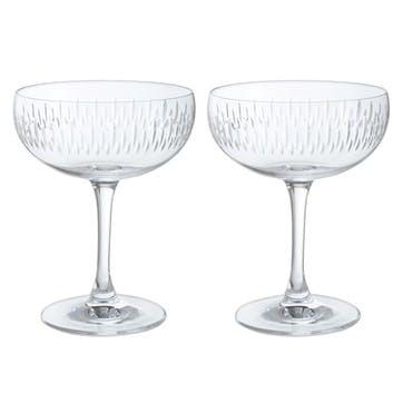 Limelight Mitre Champagne Saucer, Set of 2