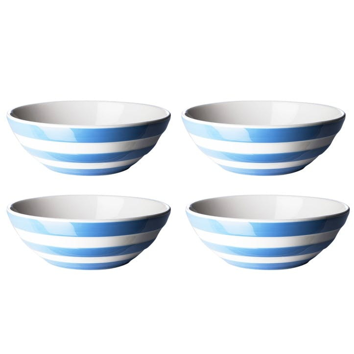 Set of 4 Cereal Bowls, 17cm, Blue