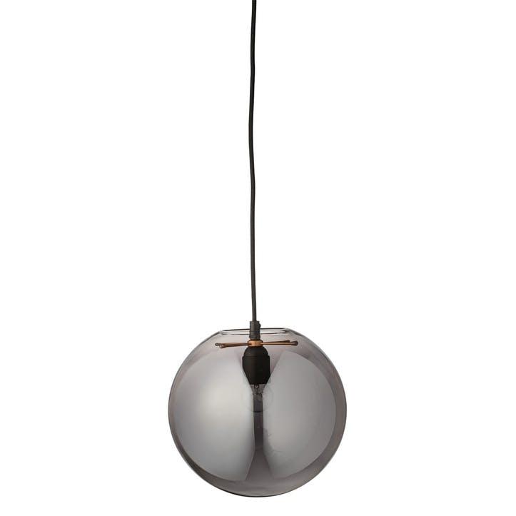 Spherical Glass Pendant, Grey