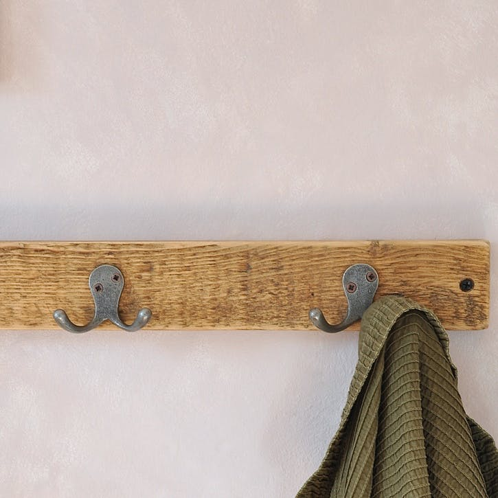Florence Reclaimed Wood Double Coat Hook