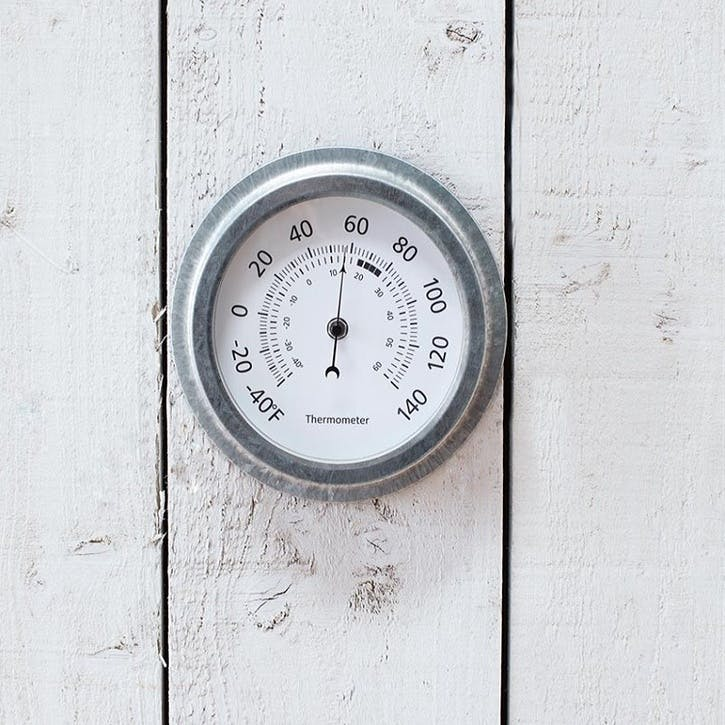 St Ives Galvanised Steel Thermometer
