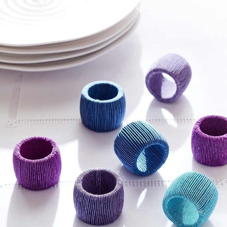 Ciel Cord Napkin Rings, Set of 8
