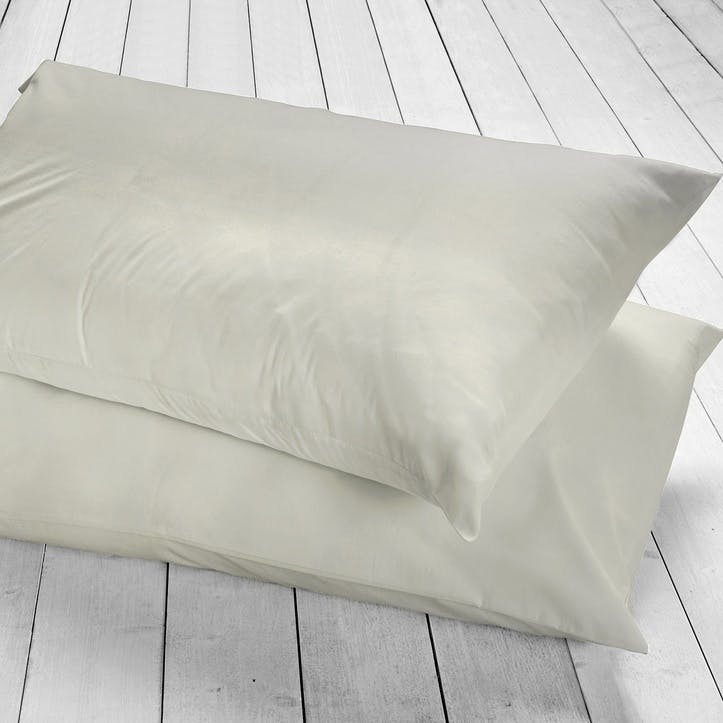 Pure Housewife Pillowcase, Set of 2, Silver