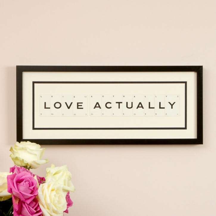 'Love Actually' Word Frame