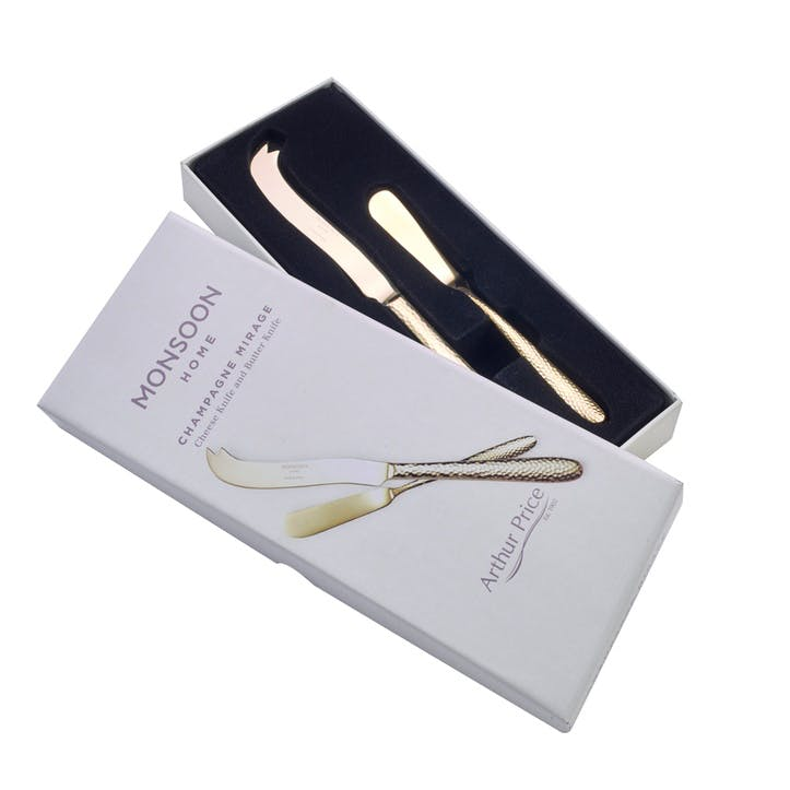Monsoon Mirage Champagne Cheese & Butter Knife Set