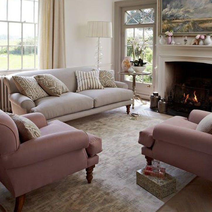 Saturday Love Seat, Rose Cotton Matt Velvet