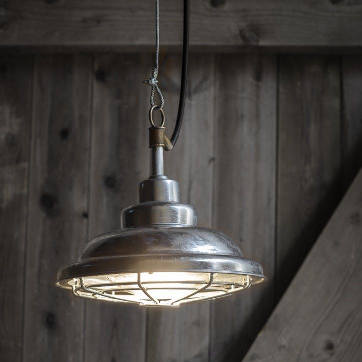 St Ives Mariner Outdoor Pendant Light,  Galvanised Steel