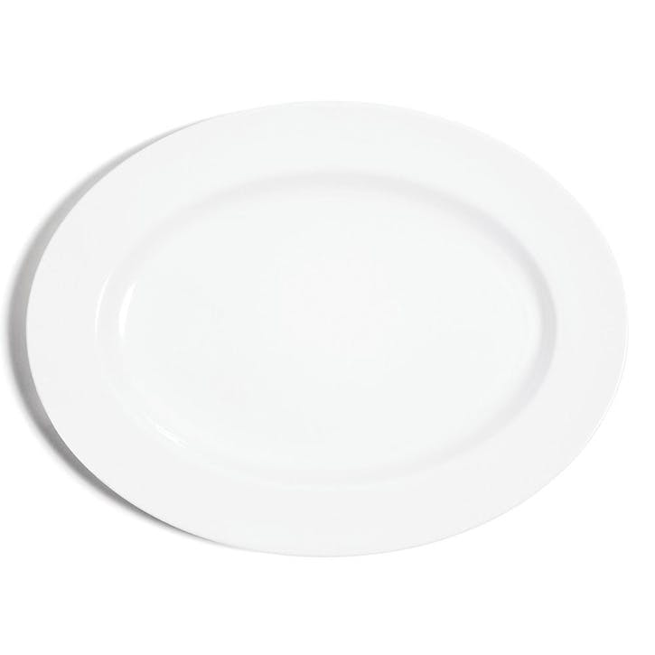 White Oval Serving Plate