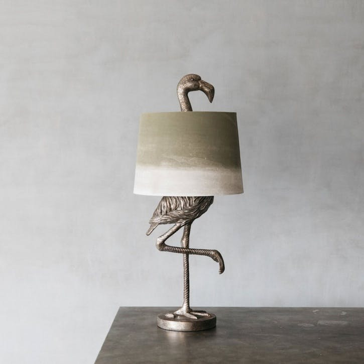 Flamingo Table Lamp, Silver