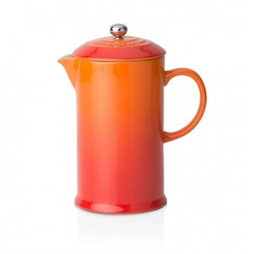 Stoneware Cafetiere with Metal Press; Volcanic