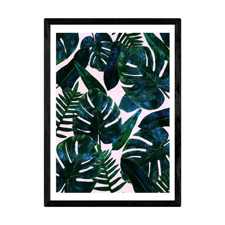 83 Oranges, Leaves, Framed Art Print, H44 x W33 x D2cm, Black