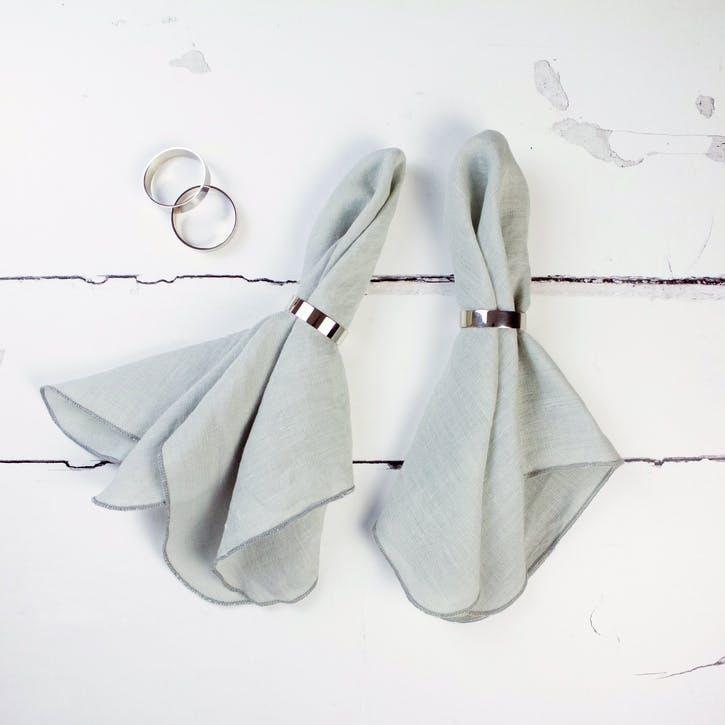 Jewel Linen Napkin, Oyster