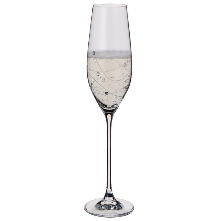 Glitz Champagne Flutes, Pair