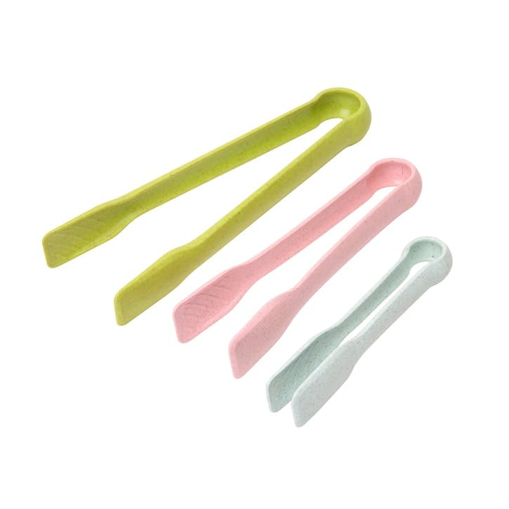 Pastel Wheatfibre Food Tong, Set of 3