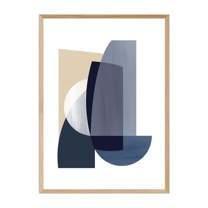 Anna Mainz, Abstract IV, Framed Art Print, H61 x W44 x D2cm, Beige/ Natural