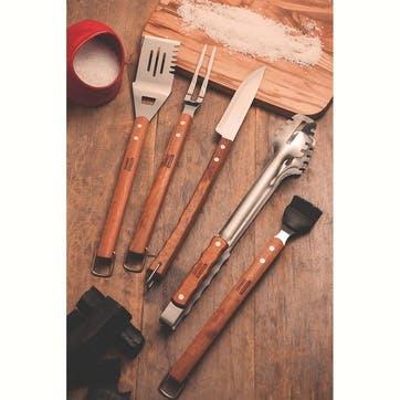 Meat Tongs, Natural Wood