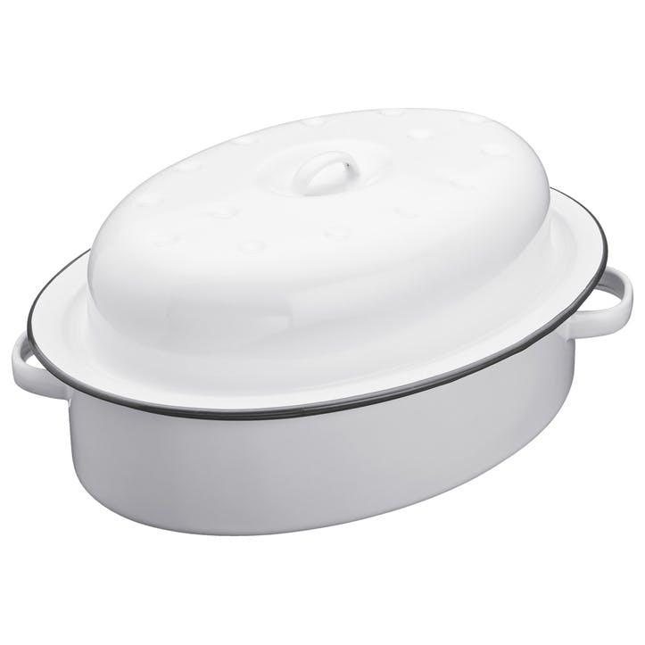 Enamel Oval Roaster