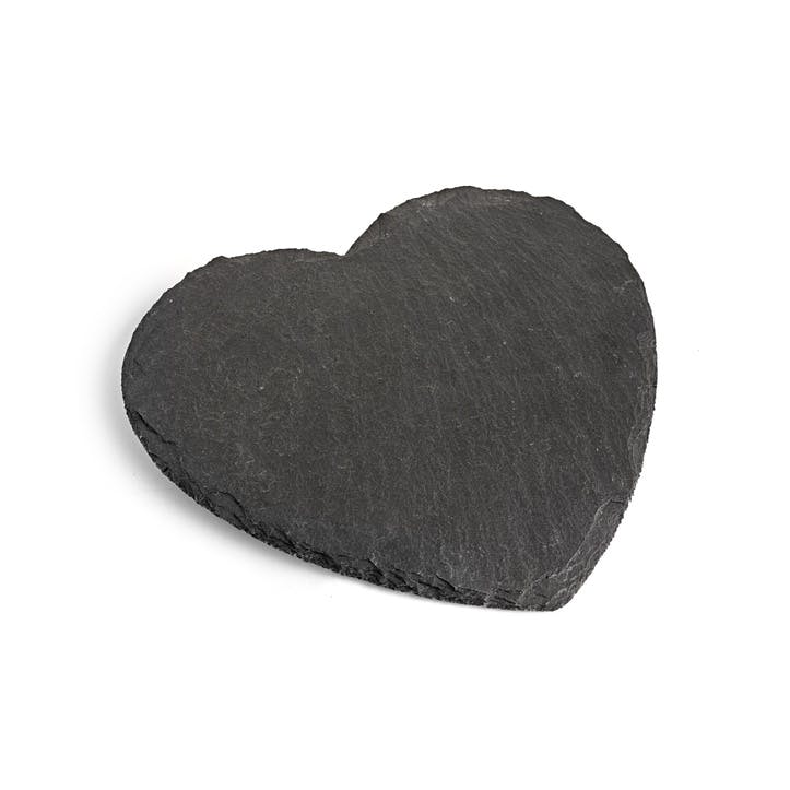 Natural Slate Heart Serving Board