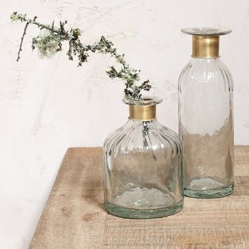 Chara Hammered Bottle, Lines - Small
