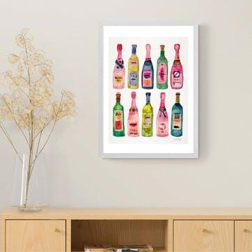 Cat Coquillette, Champagne Framed Art Print