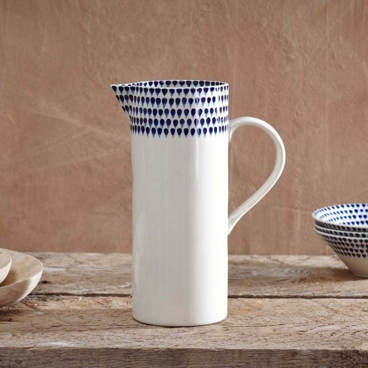 Indigo Drop Jug