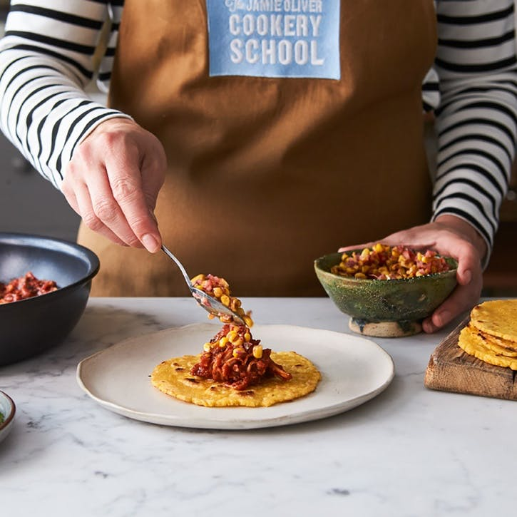 Mexican Street Food Class for Two at Jamie Oliver's Cookery School