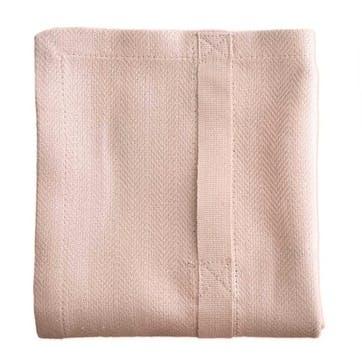 Herringbone Kitchen Towel, L86 x W53cm, Pale Rose