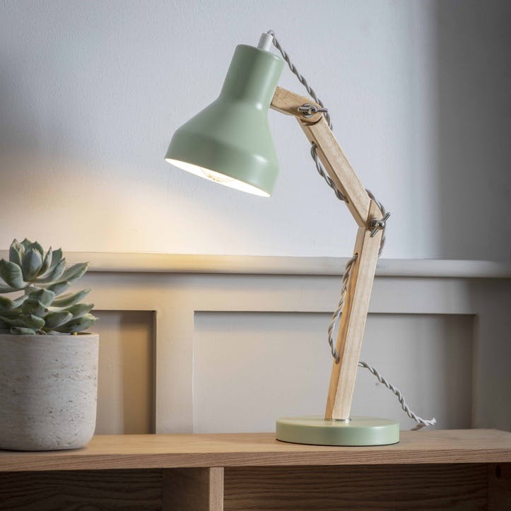 Folgate Desk Lamp, Sage