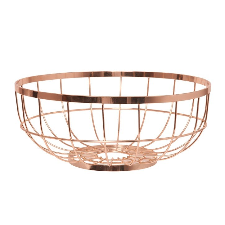 Grid Fruit Basket, Copper