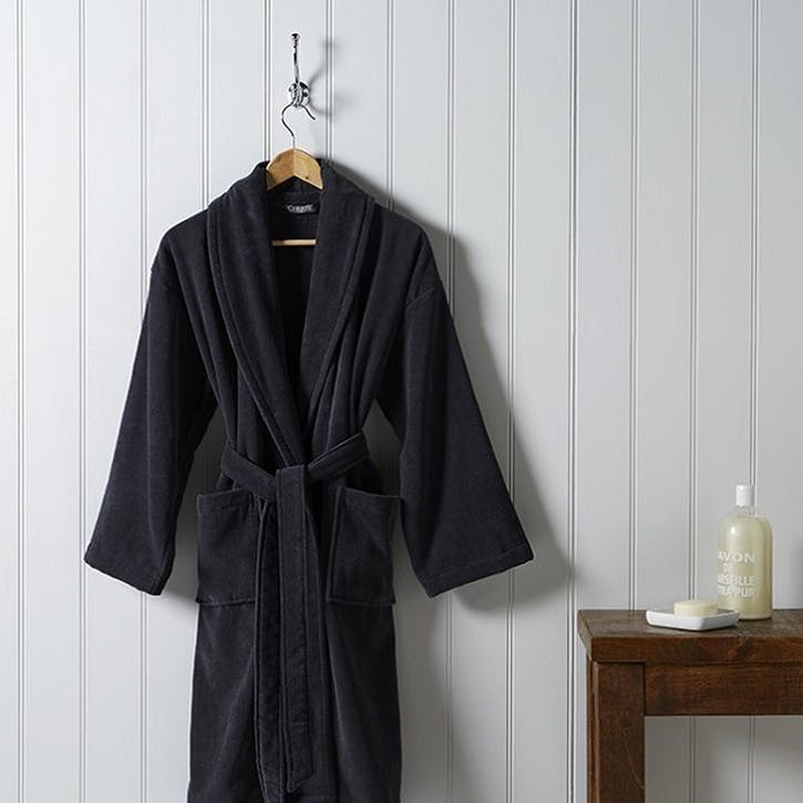 Supreme Supima Hygro Graphite Medium Bath Robe