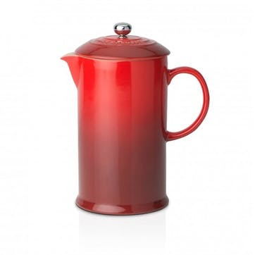 Stoneware Cafetiere with Metal Press; Cerise