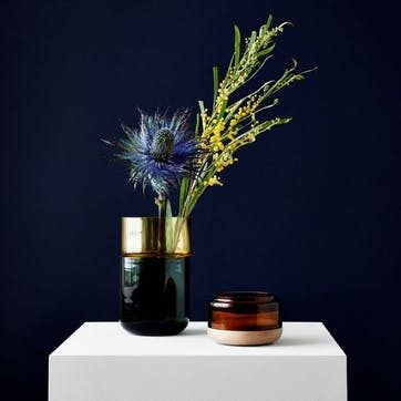 Pi-No-Pi-No, Complete Vase Set, H25 x W12cm, Green/Amber/Bronze