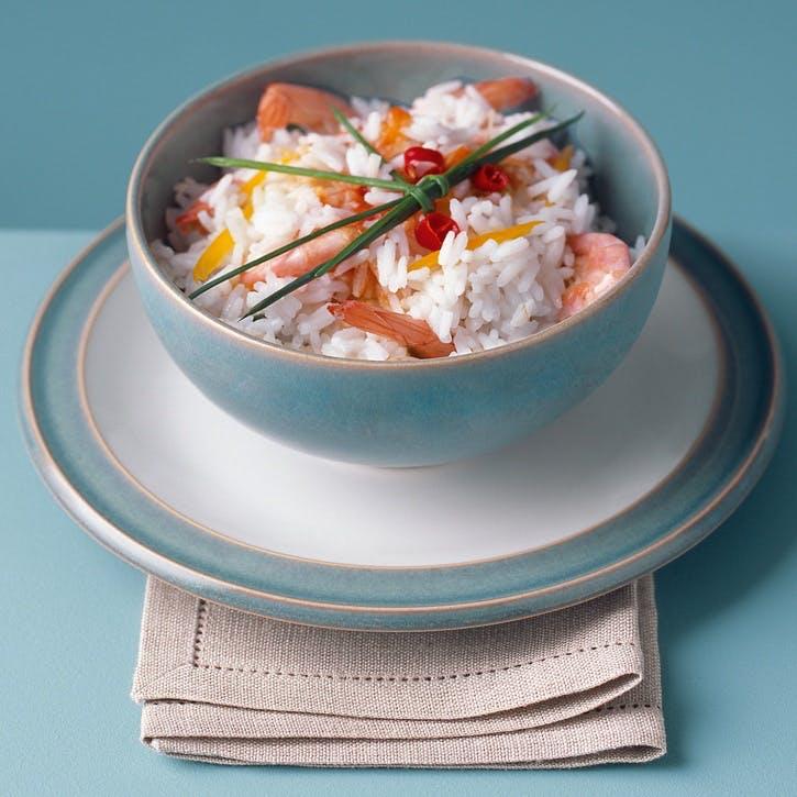 Azure Rice Bowl, 13cm, Blue
