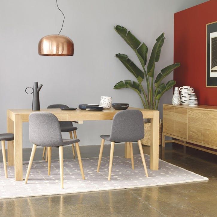 Drio 4-10 Seat Oak Extending Dining Table