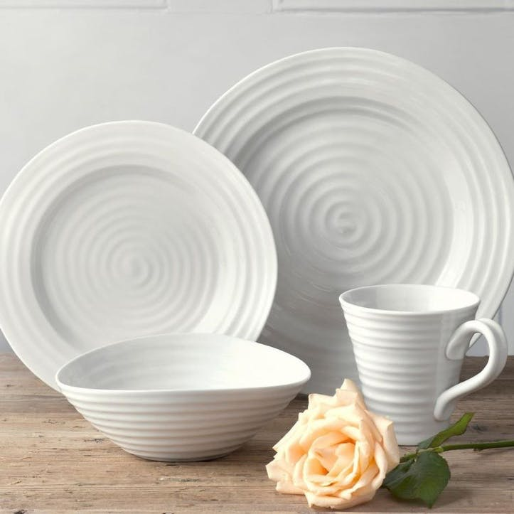 12 Piece Dinnerware Set; White