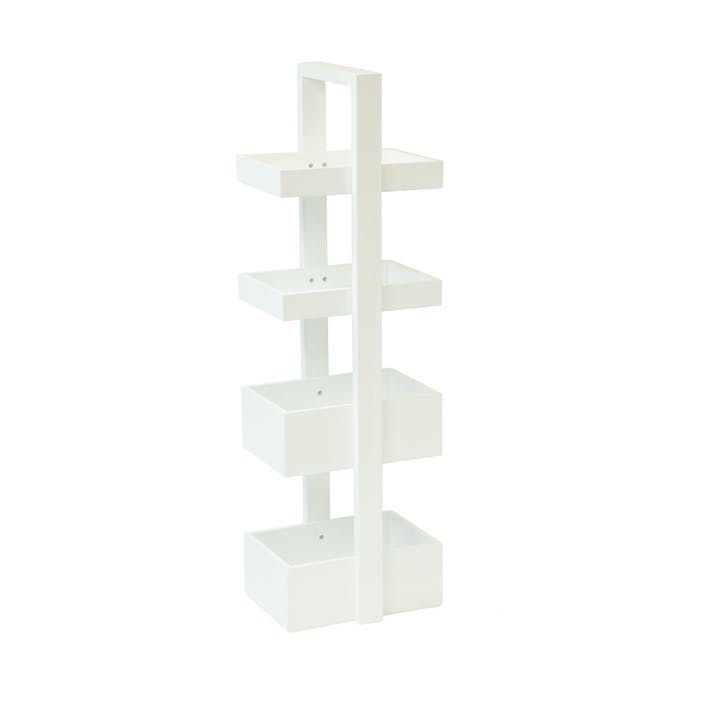 Brights Mount Fuji 4 Tray Caddy, White Gloss